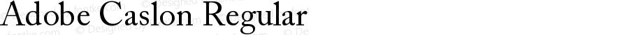 Adobe Caslon Regular
