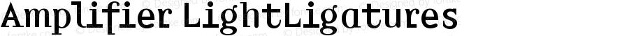 Amplifier LightLigatures Version 001.000