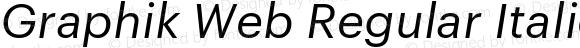 Graphik Web Regular Italic