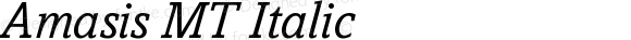 Amasis MT Italic Version 001.003