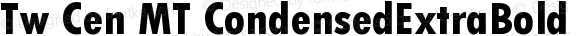 Tw Cen MT CondensedExtraBold