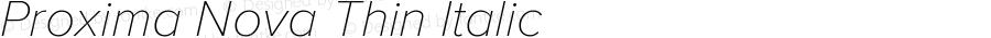 ProximaNova-ThinItalic