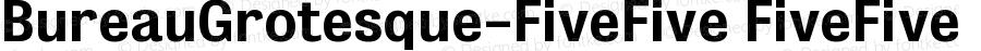 BureauGrotesque-FiveFive FiveFive Version 001.000