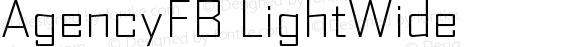 AgencyFB LightWide