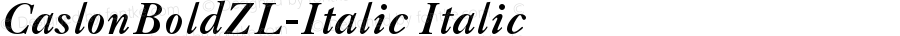 CaslonBoldZL-Italic Italic Version 001.001
