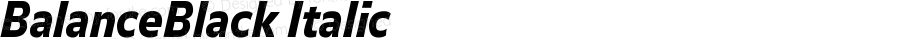 BalanceBlack Italic Version 001.000