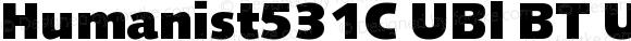 Humanist531C UBl BT UltraBlack