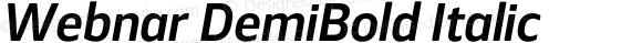 Webnar DemiBold Italic