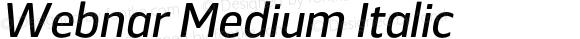 Webnar Medium Italic