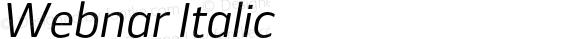 Webnar Italic