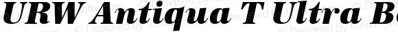 URW Antiqua T Ultra Bold Italic