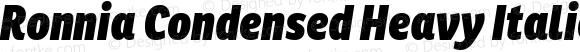 Ronnia Condensed Heavy Italic
