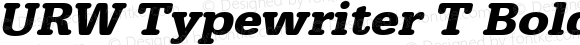URW Typewriter T Bold Wide Oblique