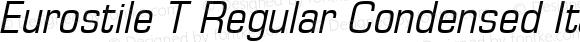 Eurostile T Regular Condensed Italic