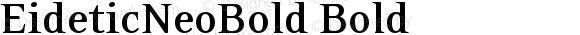 EideticNeoBold Bold Version 001.000