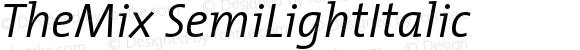 TheMix SemiLightItalic