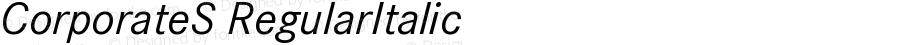 CorporateS-RegularItalic