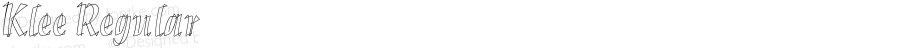 Klee Regular Version 1.0