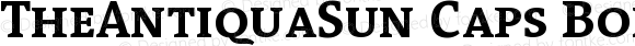TheAntiquaSun Caps Bold Version 001.001
