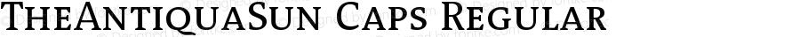 TheAntiquaSun Caps Regular Version 001.001