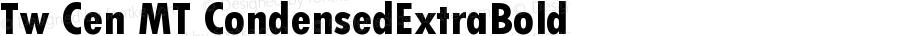Tw Cen MT CondensedExtraBold Version 001.002
