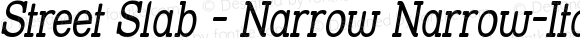 Street Slab - Narrow Narrow-Italic