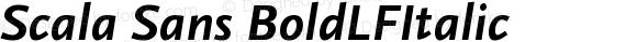 Scala Sans BoldLFItalic Version 001.000