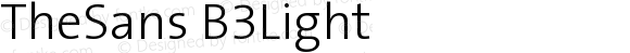 TheSans B3Light Version 001.000