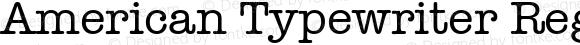 American Typewriter Regular 1.0d19