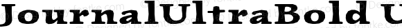 JournalUltraBold UltraBold