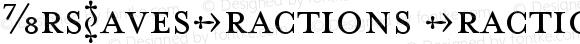 MrsEavesFractions Fractions Version 001.000