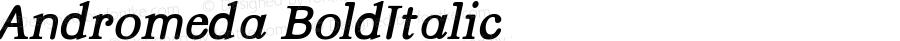 Andromeda BoldItalic Version 001.000