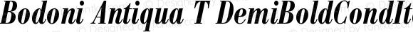 Bodoni Antiqua T DemiBoldCondItal