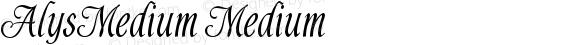 AlysMedium Medium Version v1.0  3/18/94
