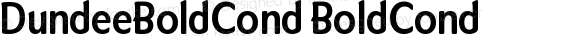 DundeeBoldCond BoldCond