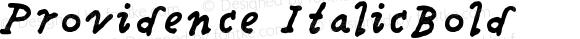 Providence ItalicBold Version 001.000