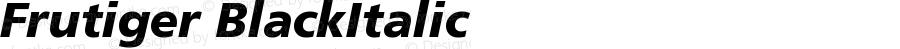 Frutiger CE 76 Black Italic