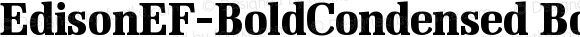 EdisonEF-BoldCondensed BoldCondensed