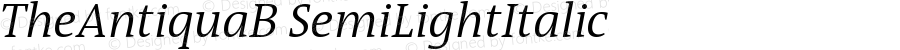 TheAntiquaB SemiLightItalic Version 001.000
