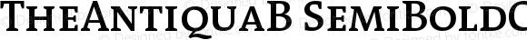 TheAntiquaB SemiBoldCaps Version 001.000