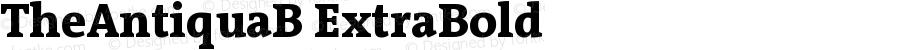 TheAntiquaB ExtraBold Version 001.000