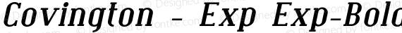 Covington - Exp Exp-BoldItalic preview image