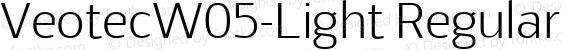 VeotecW05-Light Regular