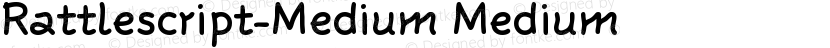 Rattlescript-Medium Medium Preview Image