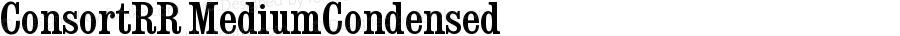 ConsortRR MediumCondensed Version 001.004