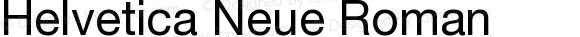 Helvetica Neue Roman Version 001.000