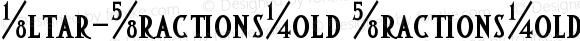 Altar-FractionsBold FractionsBold Version 001.000