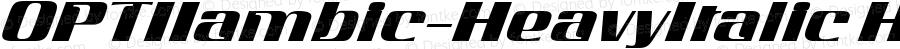 OPTIIambic-HeavyItalic HeavyItalic Version 001.000