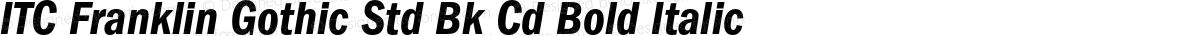 ITC Franklin Gothic Std Bk Cd Bold Italic