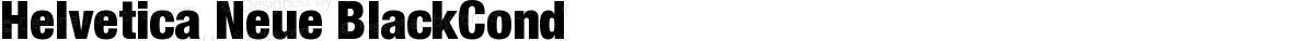 Helvetica Neue BlackCond